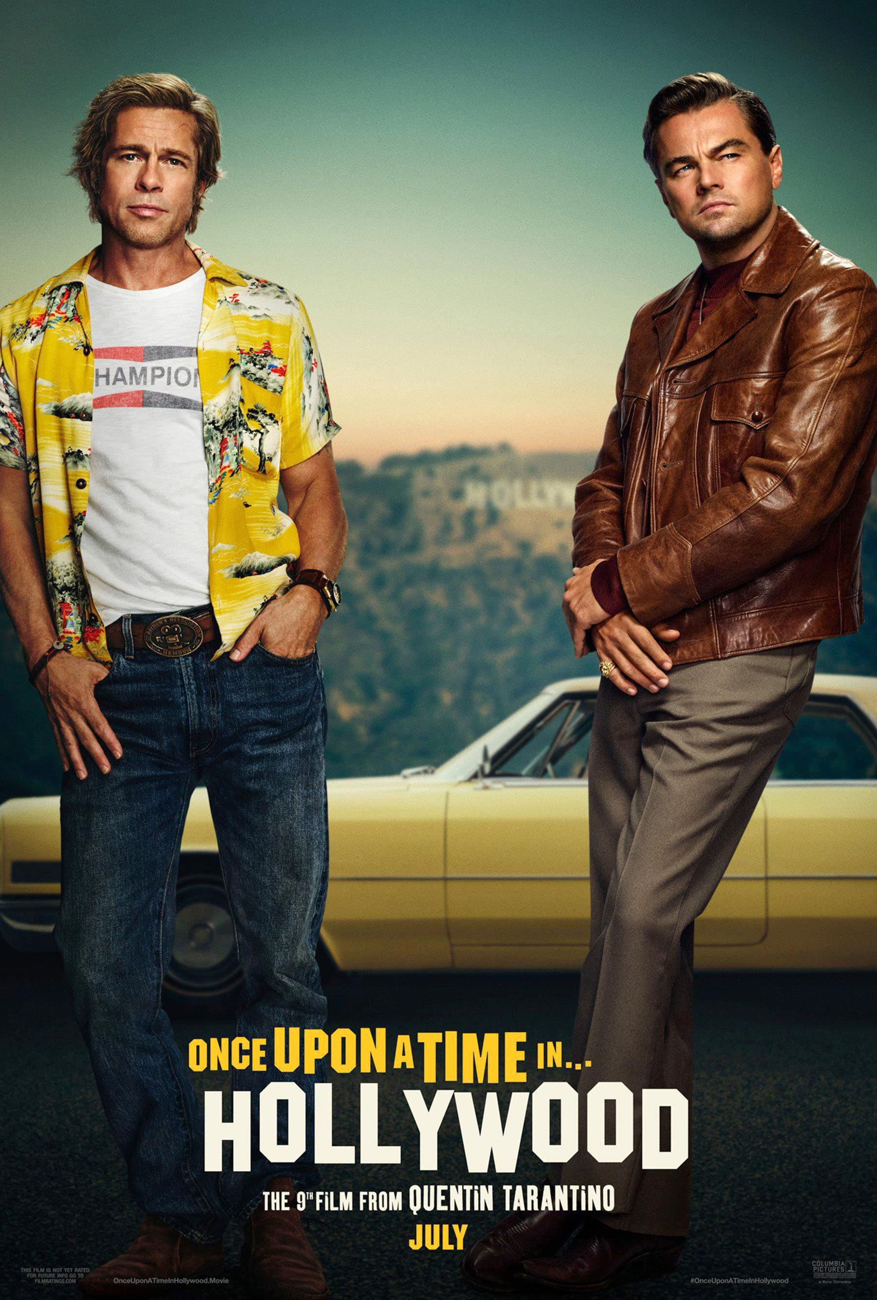 1558694520115_ONCE UPON A TIME IN HOLLYWOOD 2019.jpg - Locandina originale di C'era una volta a Hollywood 2019
