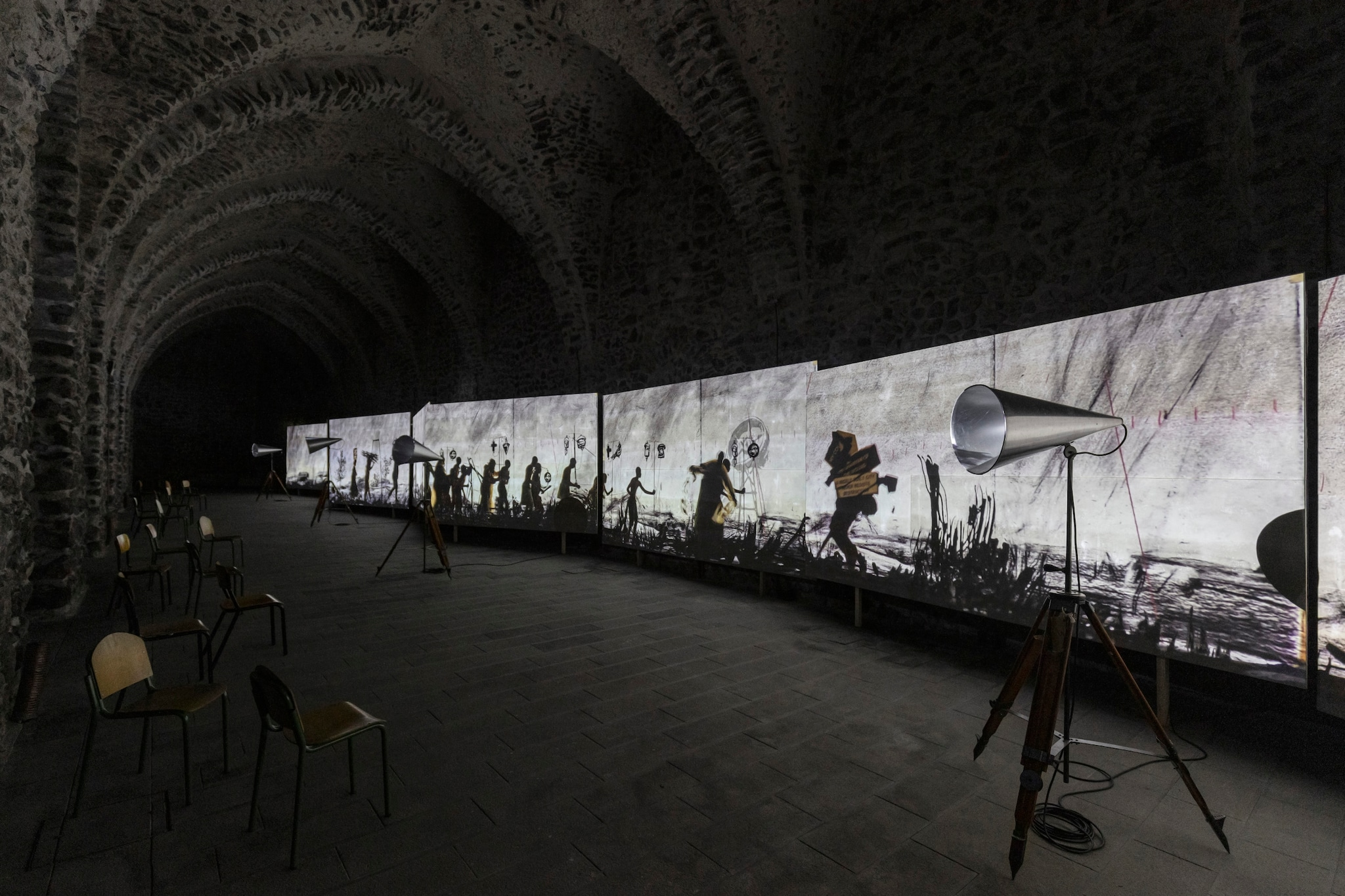 "1599135332555__T0A2867.jpg - William Kentridge ""More Sweetly Play the Dance"", fino al 2 dicembre 2020 all'Antico Arsenale della Repubblica di Amalfi."