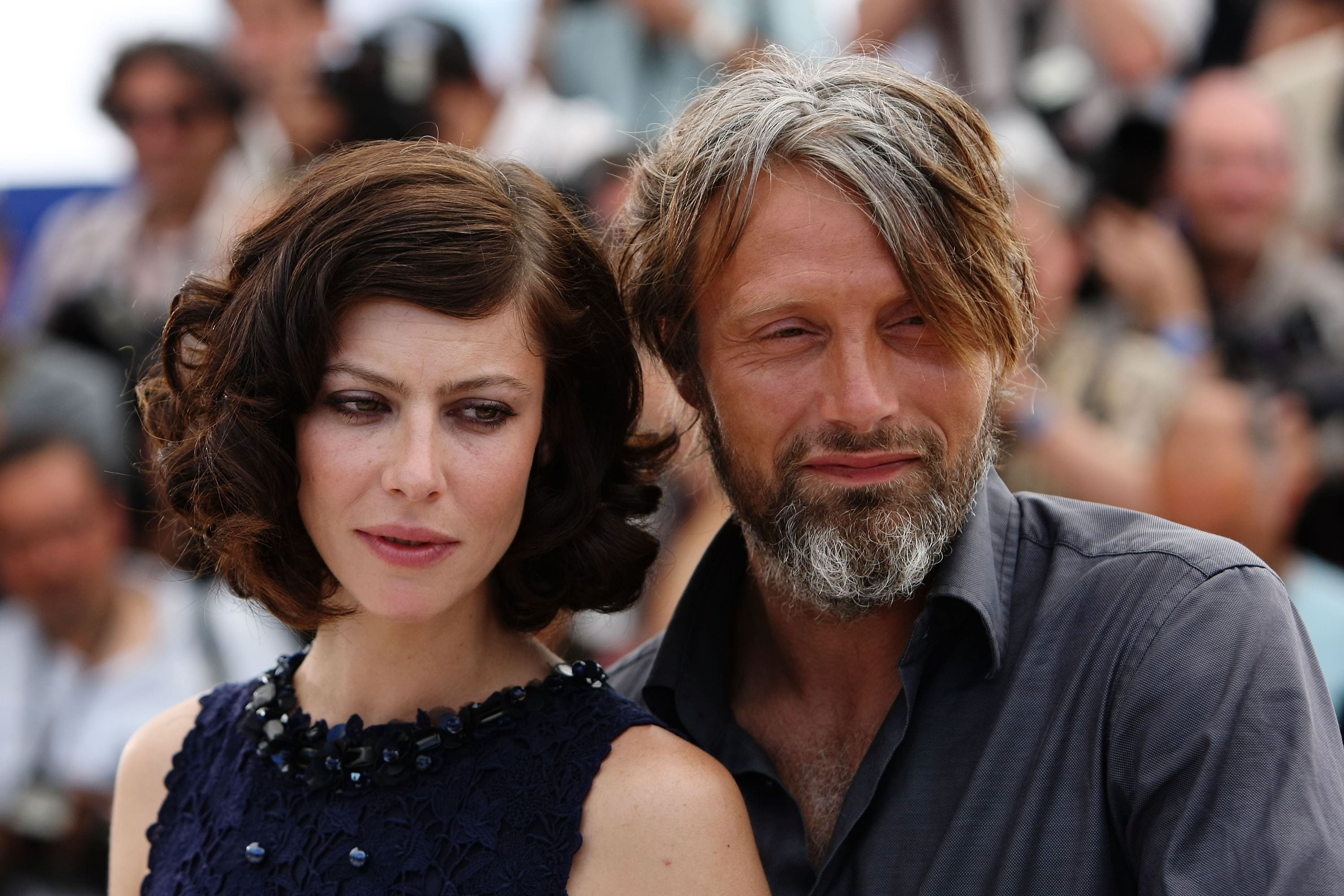 1615371249260_Cannes2009.jpg - L'attrice russa Anna Mouglalis e l'attore danese Mads Mikkelsen a Cannes nel 2009